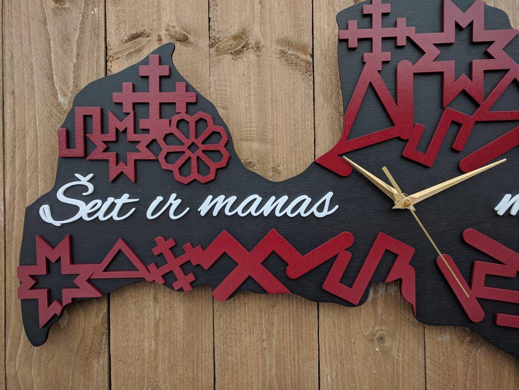 Latvijas pulkstenis (divslāņu lielais)