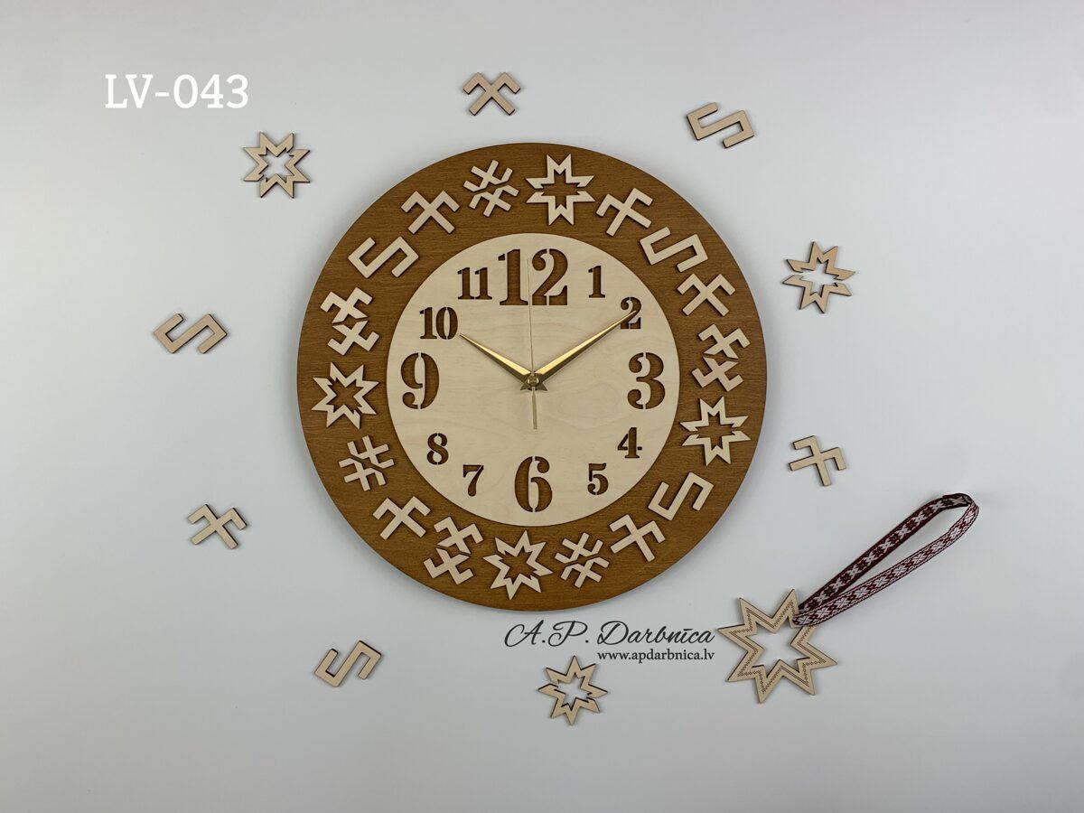Latvju rakstu pulkstenis LV04