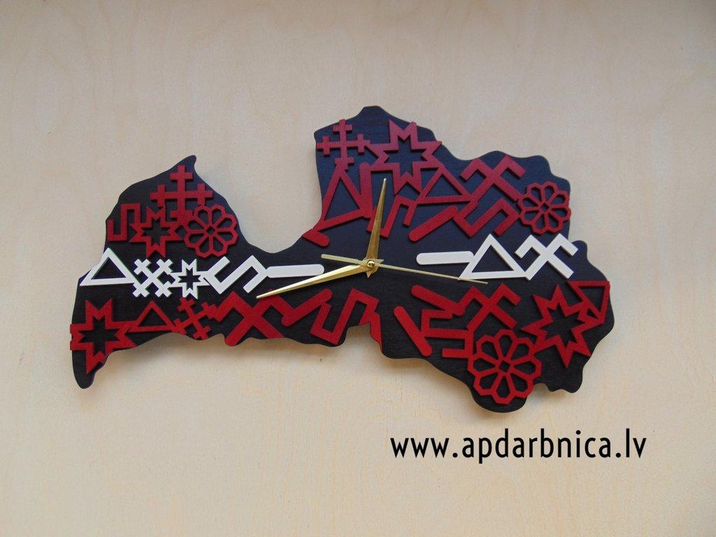 Latvijas pulkstenis (divslāņu LV01)